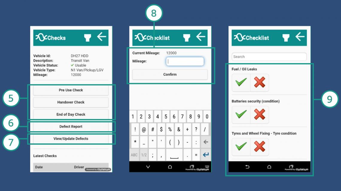Stream Check - How to do a walkaround check in the Stream Check app