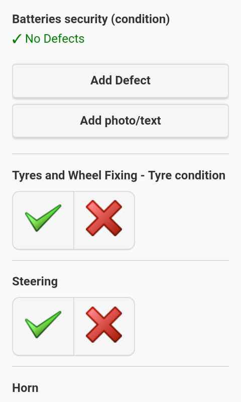 How to add notes & photos for non-defect checks in the Driver App