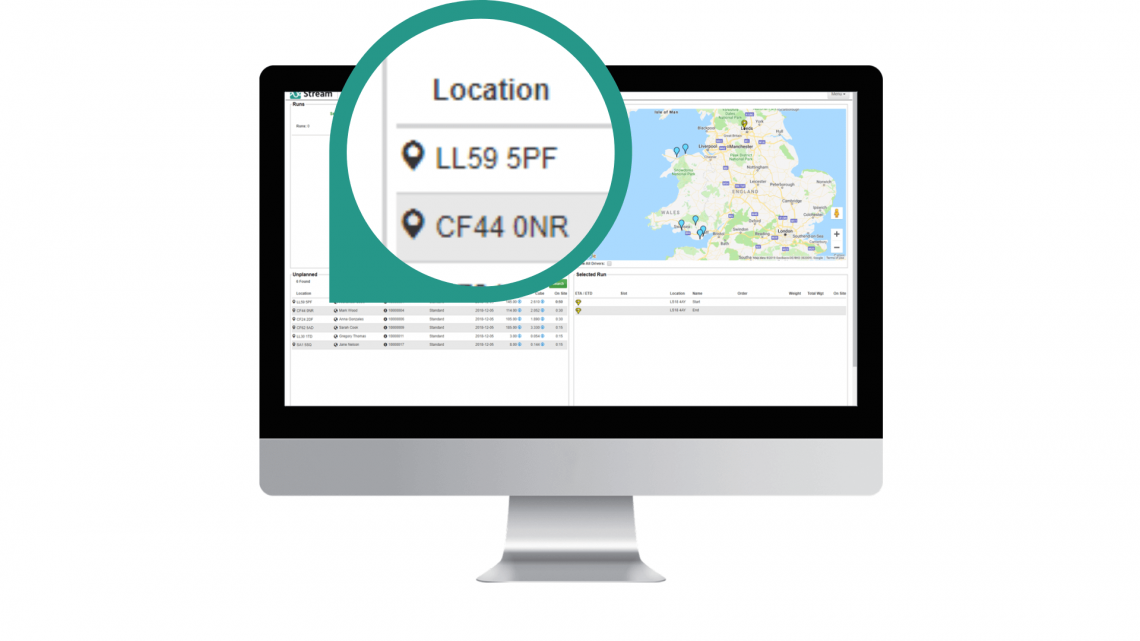 Easily change delivery location in Stream Go delivery software