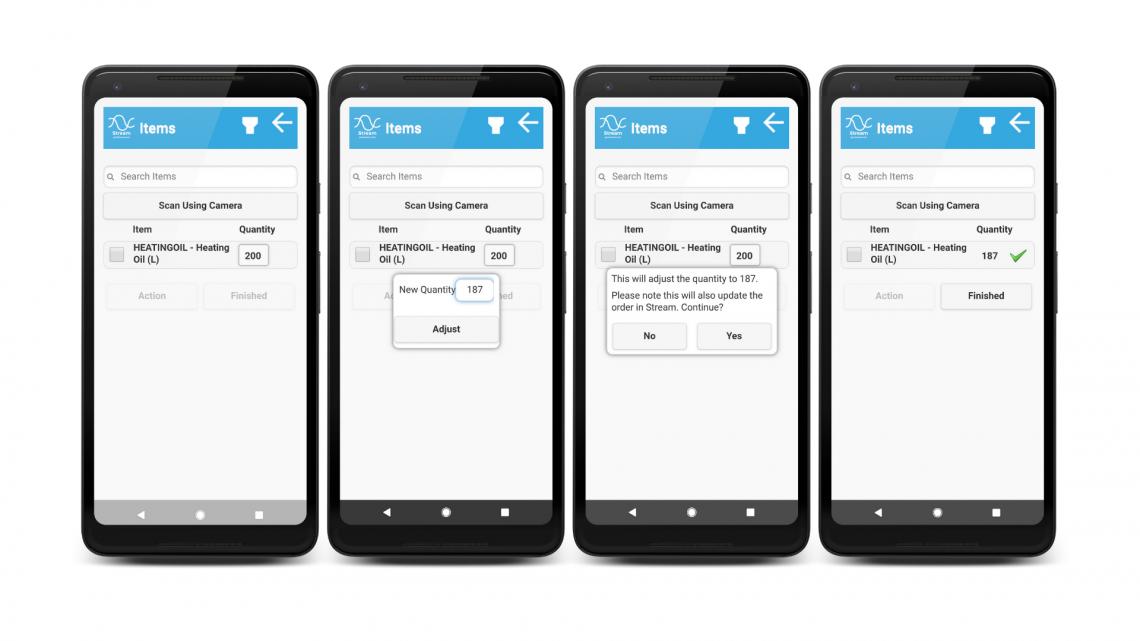 bulk haulage software stream go adjust mobile app
