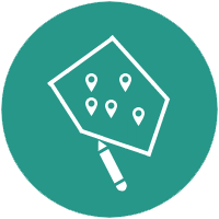 Delivery software map drawing tool