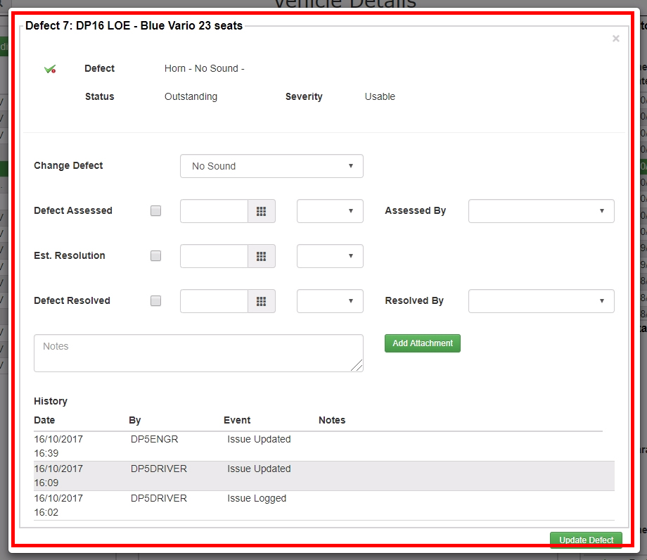 The overall layout of the defect management popup has been made less cluttered and easier to use