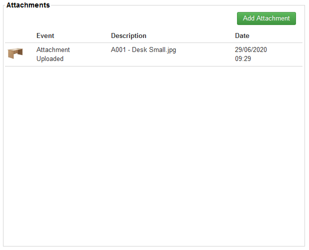 You can add attachments to products, for example, PDF documents or images relating to the product